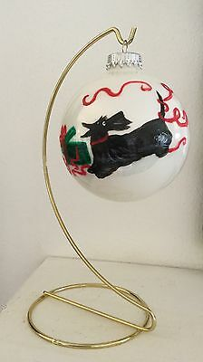 Scottish Terrier Holiday Ornament hand painted with hanger
