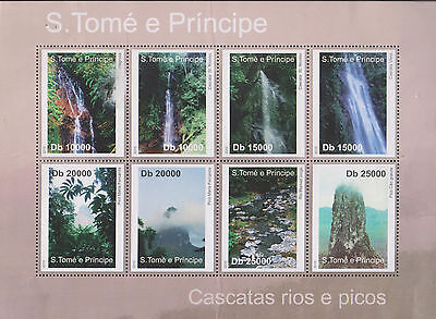 O) 2010 Sao Tome And Principe, Waterfalls, Rivers, Picos, Natural Landscapes, Bl