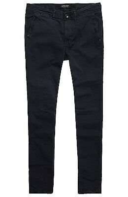 SUPERDRY Surplus Low Rider Chino, Pantalon Homme, Noir (Washed Blackafb), XL