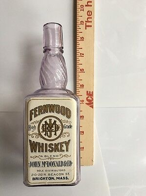 Pre-Prohibition Labeled Only Get wood Whiskey Bottle