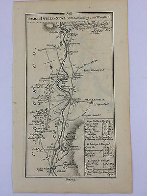 1782 Ireland Carlow  Leighlin Gowran New Ross  133/134 antique road maps