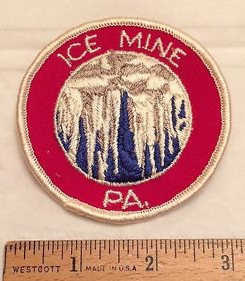 Ice Mine PA Coudersport Pennsylvania Souvenir Embroidered Round Patch
