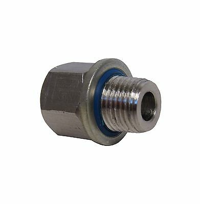 """304 Stainless Steel Adapter 1/4"""" Npt Female X 1/4"""" Bspp Male W/ Sealing Washer"""