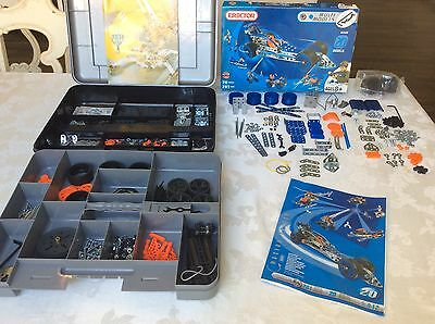 2 LARGE SETS OF MECCANO ERECTOR BUILDING SETS w/ CASE & MANUALS