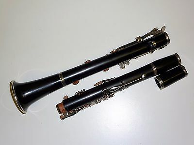 Nice NOBLET A clarinet Made in France With spare boosey hawkes wooden barrel.