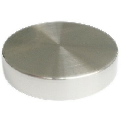 "MA-037 1 PC 4"" Replacement Brushed Chrome Round Metal Dress Form Neck Cap"