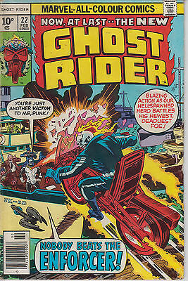 Ghost Rider 22 - 1977 - Kirby cover - Fine +