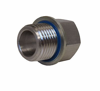 """New 304 Stainless Adapter 1/2"""" Npt Female X 1/2"""" Bspp Male W/ Sealing Washer New"""