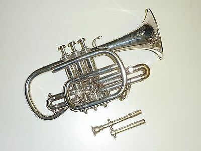 Vintage Hawkes & Sons Clippertone Excelsior Sonorous Class A Cornet