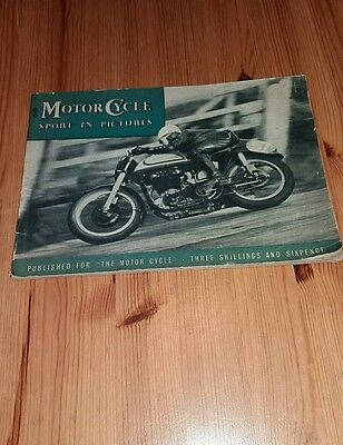 """1951 ORIGINAL""""MOTOR CYCLE SPORT IN PICTURES by """"THE MOTOR CYCLE"""""""