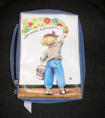 Mary Engelbreit Zippered Book Cover Case Holder Bag w/ Handle