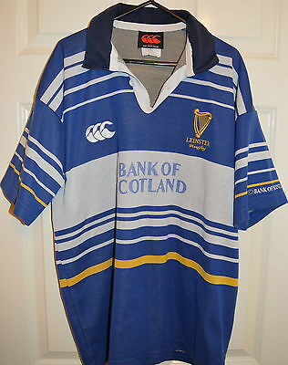 Leinster Ireland Rugby RARE TEMEX shirt jersey Size L maillot maglia trikot