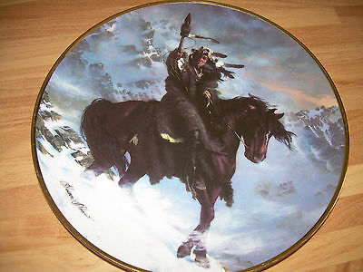 Hamilton MYSTIC WARRIORS Plate - NATIVE AMERICAN INDIANS - SPIRIT OF WEST WIND