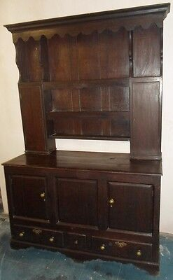 Antique 18th Century Dark Oak Welsh Dresser
