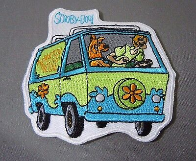 SCOOBY DOO and SHAGGY w/Mystery Machine Embroidered Iron On Patch 3""