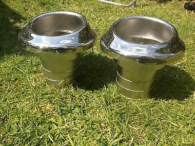 2 x Stainless Steel Marine / Boat Exhausts