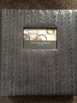 New Cynthia Rowley Gray Faux Leather Weave 11X13 Photo Album Holds 500 Photos