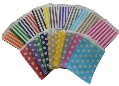 Candy Polka Dot Spot  Stripe paper Sweet Gift  Party bags Weddings Birthday 5x7""