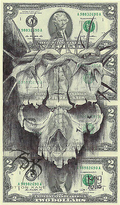 Hobo Dollar Currency Art Uncut Money Root of All Evil Signed Open Edition Print