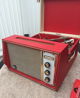VINTAGE DANSETTE HI/FI RECORD PLAYER with Garrard turntable in V nice condition.