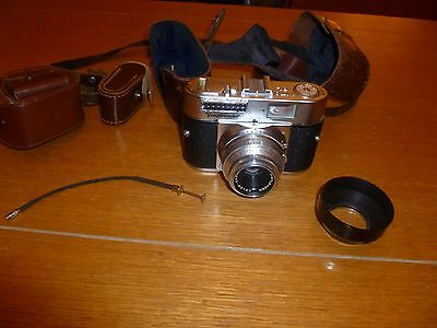 Camera Vintage VOIGTLANDER Vito BL 35mm Film Leather Case Voigtländer
