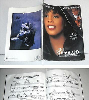 Spartiti THE BODYGUARD Whitney Houston Kevin Costner 1993 PIANO VOCAL Songbook