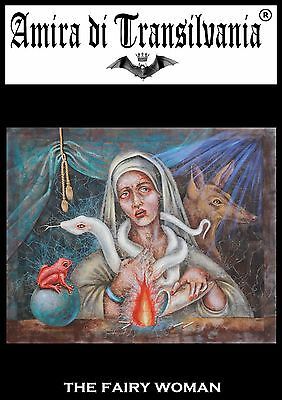 Pagan gothic Amira witch magic ritual goth painting direct artist signed acrylic