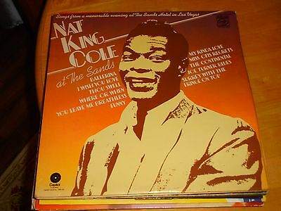 LP/ NAT KING COLE / AT THE SANDS 1966 (1970s UK EMI MFP CAPITOL