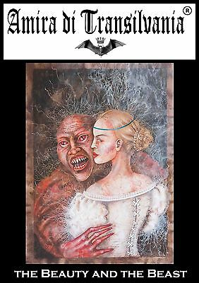 Self-portrait with fabulous monster indipendent artist original paintings signed