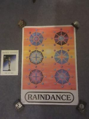 RAINDANCE Rave Flyer Flyers A5 Limited Edition Poster by PEZ