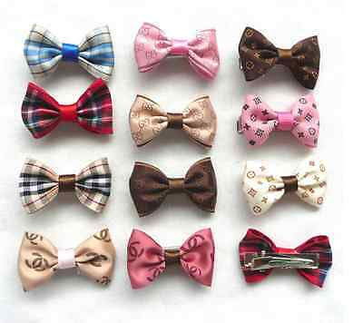 Dog & Puppy Hair Bands Clip Top Knot Grooming Bows Dog Hairclips Accessory