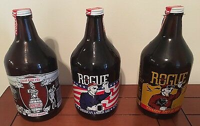 3 Beer Growler 64oz from Rogue Brewery: Dead Guy, Amber & Yellow Snow