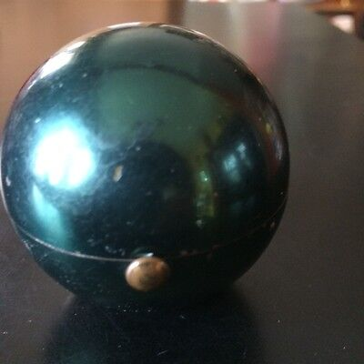 Rare Vintage Green Sphere Ball Compact by Henriette