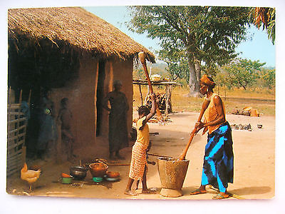 Africa in Colour Postcard Meal Preparation Iris 7622 Mexichrome 1980