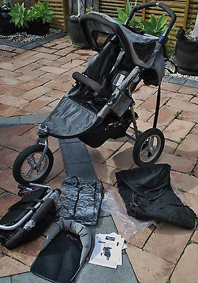 Valco Baby Runabout Deluxe stroller + ATS Toddler Seat, + shade & rain covers
