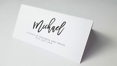 Wedding Name Placecards Custom Personalised Name Escort Place Cards Table Guest