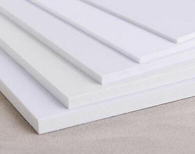2pcs 1mm*200mm*250mm White ABS Styrene Plastic Plate Sheet #A274c