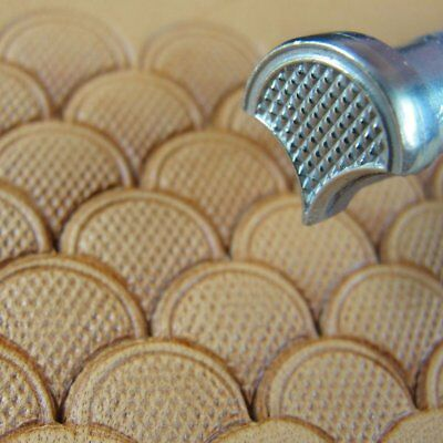 James Linnell - Coarse Checkered Shell Geometric Stamp (Leather Stamping Tool)