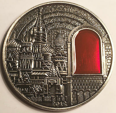53mm 36.8 gram Moscow Kremlin coin in Acrylic Capsule (Clearance)