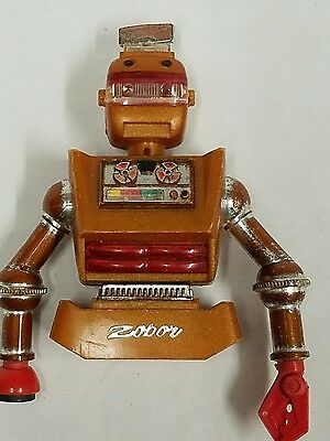 Vintage-IDEAL-TOY-ZEROID ZOBOR-SPACE-ROBOT for parts, Torso, head and hands 1968
