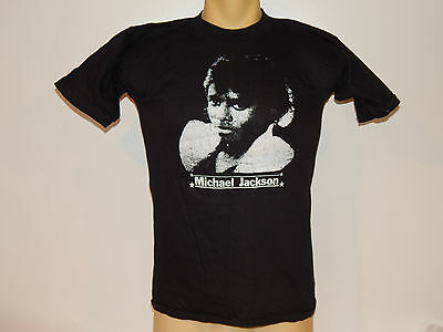 Vintage 1980's Michael Jackson Black T-Shirt By Fantasy A & G Size-Large