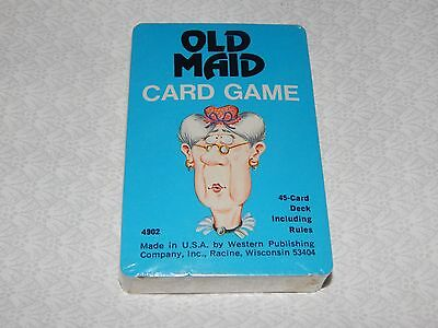 Vintage 1970's OLD MAID Card Game by Whitman - NEW & Still Sealed!