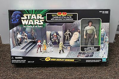 """JABBA'S PALACE 3D DIORAMA 25"""" Han Solo Carbonite Action Figure Display Hutt NEW"""