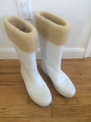 b25ad2069ce UGG MILLCREEK SHEARLING Lined Rain Boots Wellies Translucent White US 10  #5699