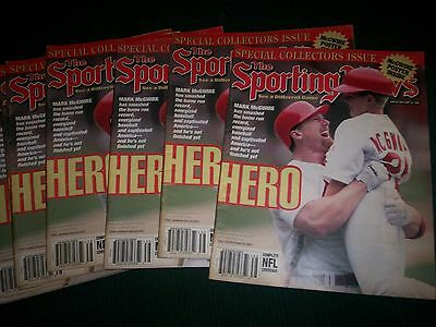 Dealer Lot Of 10 Special Collectors Issue The Sporting News (Mark McGwire/Hero)
