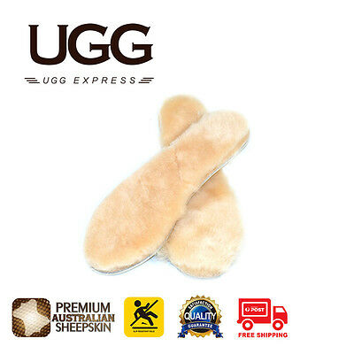 Ugg Insoles - Premium Australia Sheepskin Womens 4-13 Sizes Innersoles Available