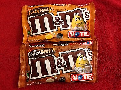 M&M's Coffee Nut, Honey Nut,  BIG Bag Candy 10.20 oz - 2 of the Vote Flavors