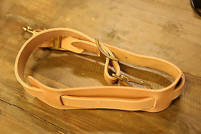 Vintage Leather Mail Bag Strap Postal Messenger Original Repro 1960s 1950s
