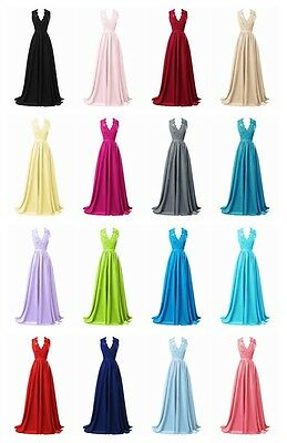 New Long Bridesmaid Formal Ball Gown Party Cocktail Evening Prom Dresses Chiffon