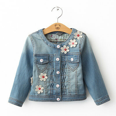 Cute Jeans Shirt with Flower _ Free Shipping